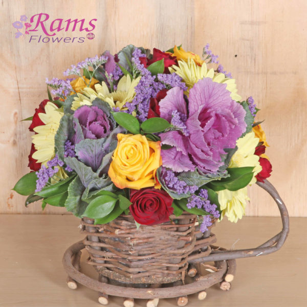 Teacup Surprise 2-Rams-Flowers