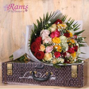 Rams FLowers-RF0014-Rainbow Roses-2