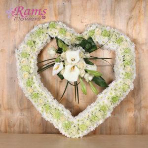 Rams Flowers-RF0011-White Heart-2