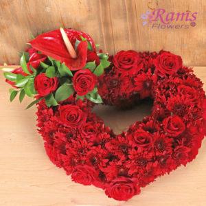Rams Flowers-RF0012-Red Heart-2