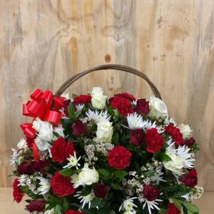 Rams Flowers-RF044-Red-nd-White-Romance