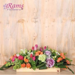 Rams Flowers RF078 Classy Wooden Box